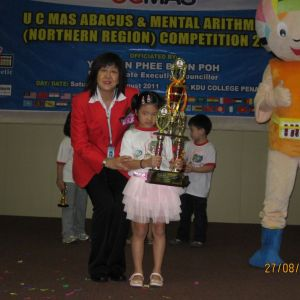 Age 6, Champion in UCMAS Northern Region Competition 2011