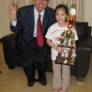 Age 7, Champion in UCMAS Northern Region Competition 2009