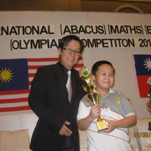 Age 10, Gold Prize (Mental Arithmetic, Maths & Maths Olympiad) in AMA Internation Comp 2014