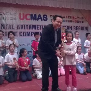 Age 10, 1st Runner Up (2nd place) in UCMAS Northern Region Competition 2016